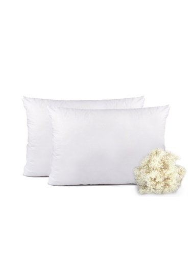 Eponj Home 2li Yün Yastık 50x70cm Beyaz Beyaz